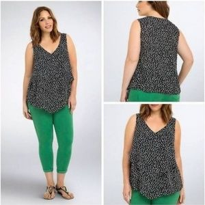 Torrid Heart Print Sleeveless Top- Like New!